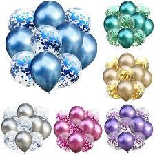 <b>12Pcs</b>/6pcs 12inch <b>Mixed</b> Gold Confetti Balloons Birthday Party ...