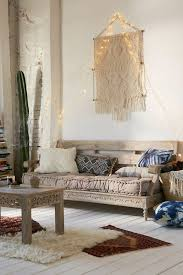 shabby chic furniture boho style wood carving macrame pillow ethnic rugs sheepskin floorboards lights sofa boho style furniture