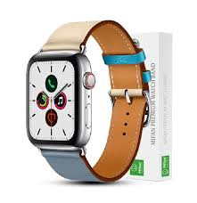 Buy Mifan Official <b>Genuine Leather Band for</b> Apple Watch Series 5/4 ...