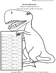 Division Worksheets - Divide Numbers by 8 to 10Print Worksheet