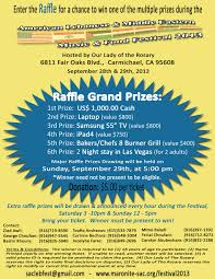 festival 2013 check out the raffle flyer for more information and contact details