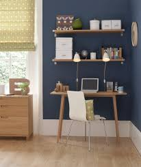home office blue office walls
