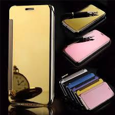Samsung Galaxy S7/S7 Edge Luxury <b>Mirror</b> View <b>Mirror</b> PU <b>Cover</b> ...