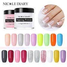 <b>NICOLE DIARY Dipping</b> System <b>Powder</b> Without Lamp Cure <b>Nails</b> ...
