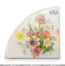 <b>Салфетки</b> IHR Welcome <b>Spring</b> 33х33см, 3-слойные, белые ...