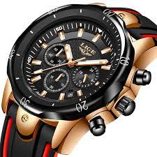<b>LIGE</b> Top Luxury Brand <b>Mens</b> Watches <b>Casual Fashion</b> Sport ...