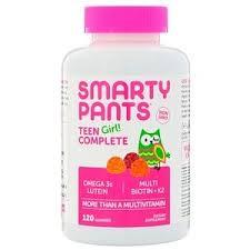 SmartyPants, <b>Teen Girl Complete</b>, <b>Lemon</b> Lime, Mixed Berry, and ...