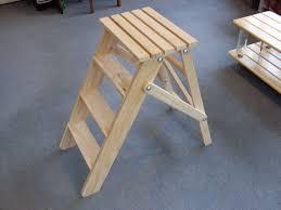 wooden fold step ladder