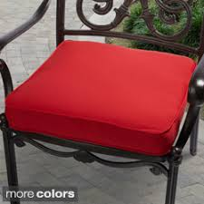 indoor outdoor 20 inch solid traditional chair cushion with sunbrella fabric black patio chair cushions