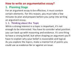 argumentative analysis essay topics