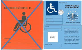 Risultati immagini per contrassegno disabili auto