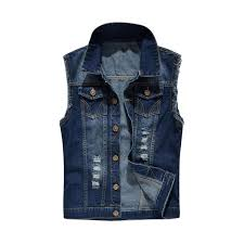 <b>CYSINCOS</b> 2019 <b>Men</b> Lapel <b>Denim</b> Sleeveless Vest Jacket Coat ...