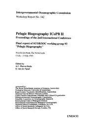 Pelagic biogeography ICoPB II: proceedings of the 2nd International ...