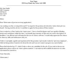 data analyst cover letter writing a speculative cover letter
