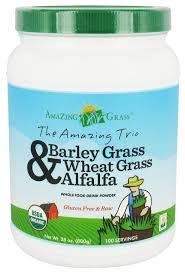 The <b>Amazing Trio Barley</b>, Wheat Grass & Alfalfa Whole Food Drink ...