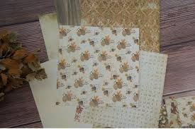 <b>24 sheets DIY 12</b> style 15.2*15.2cm love Autumn theme craft paper ...
