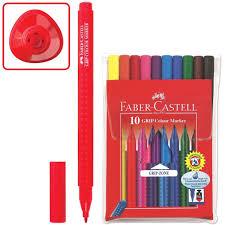 """<b>Фломастеры Faber-Castell</b> """"<b>GRIP</b>"""", <b>10</b> цветов, смываемые ..."""