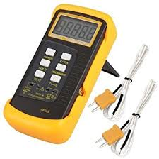 Signstek <b>6802</b> II Dual Channel <b>Digital</b> Thermometer with 2 K-Type ...
