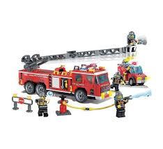 <b>Конструктор Enlighten Brick Пожарная</b> машина с фигурками и ...