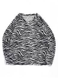 [20% OFF] <b>2019 Irregular Striped</b> Waves <b>Print</b> V-neck T-shirt In ...