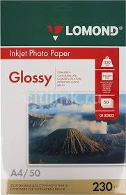 Купить <b>Фотобумага Lomond</b> 0102022 A4/<b>230г</b>/<b>м2</b>/50л./белый ...