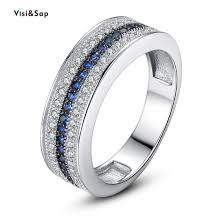 luxury white gold color square crystal wedding engagement rings jewelry aaa cubic zirconia women for valentines day