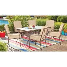 crossman piece outdoor bistro: mainstays crossman  piece patio dining set tan seats