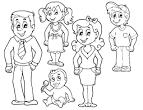 Раскраски папа для детей