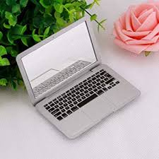 <b>Cute MAKEUP Mini Pocket</b> Laptop Style Clear Glass Women Girls ...