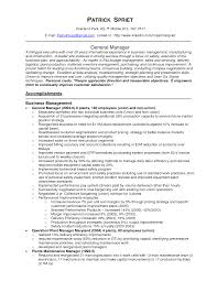 resume general manager sample resume image of general manager sample resume full size