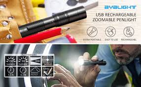 <b>Pen Flashlight</b>, BYBLIGHT Rechargeable <b>Pen light</b> with 150 Lumens ...