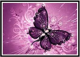 <b>5D DIY Diamond</b> Painting Butterfly Embroidery Cross Craft Stitch Kit ...