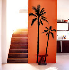 palm tree wall stickers: palm tree coconut palmier beach surf wall art sticker decal home diy decoration wall mural removable