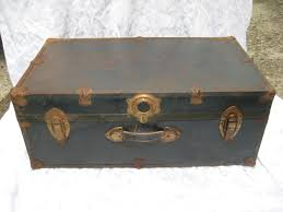 antique trunks decor vintage rustic trunk foot locker metal chest coffee table rustic shabb