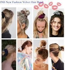 <b>M MISM 2019</b> New Women Velvet Hair Ties Elegant Elastic Hair ...
