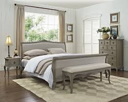 Lyon Oak Bedroom Furniture Camille French Style Upholstered Bed Crown French Furniture