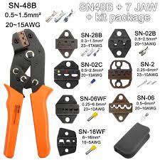 <b>crimping tool sn 28b terminal</b> pliers pince a sertir ferrule <b>wire</b> crimp ...