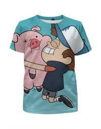 """Детские футболки c популярными принтами """"<b>гравити фолз</b> ..."""
