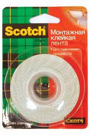 <b>Клейкая лента Scotch двусторонняя</b> монтажная на ... - купить с ...