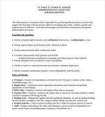 12+ Administrative Assistant Job Description Templates – Free ... Print Administrative Assistant Example Job Description Free Download