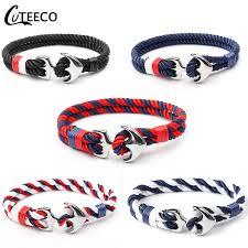 <b>CUTEECO</b> 2018 <b>New Anchor Bracelets</b> Men Charm Nautical ...