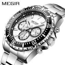 MEGIR Brand Business Quartz Watch Men Relogio Masculino ...