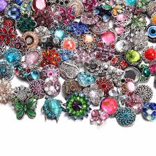 RoyalBeier <b>20pcs</b> lot Mixed <b>Colorful Style</b> Metal Button Charms For ...