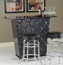 small and simple modern home bar design black mini bar