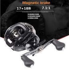 <b>17</b>+<b>1BB</b> 7.1:1 <b>Aluminium Alloy</b> Fishing Wheel Left/Right Hand ...
