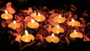 Image result for candle and flowers