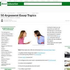 academic argument essay example
