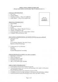 biodata resume for job 10 types of