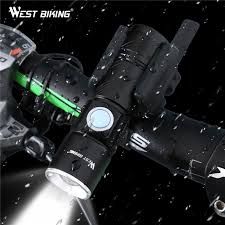 WEST BIKING Bicycle Front Light LED <b>USB Rechargeable Bike</b> ...