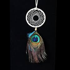 Dremisland <b>Handmade Indian</b> Peacock Dreamcatcher Wind Chimes ...